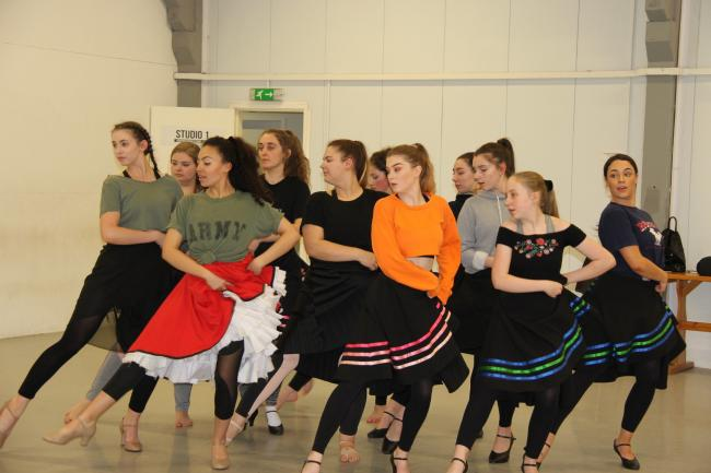 In rehearsals for West Side Story
