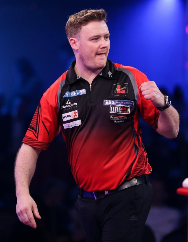 Jim Williams during the 2019 Lakeside World Professional Darts Championships at Lakeside, Frimley Green, United Kingdom on 11 January 2019.