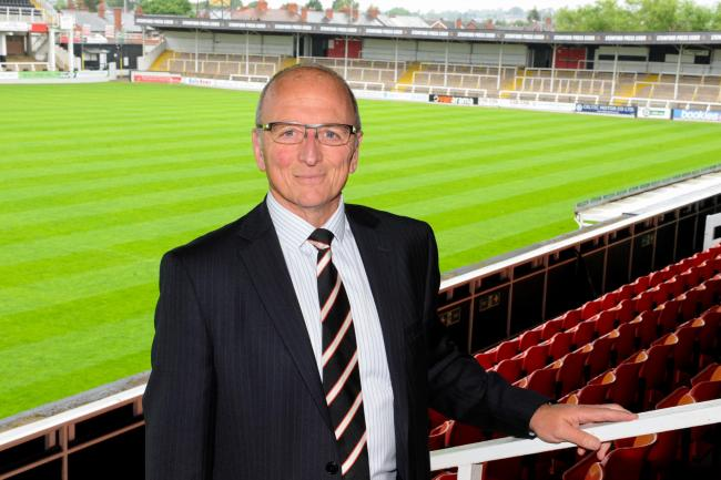 Newly appointed Chairman of Hereford Football Club Andrew Graham. Edgar Street, Hereford