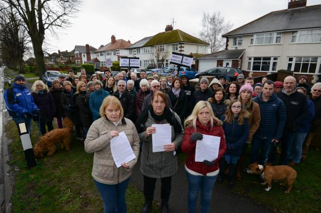 People living on Kings Acre Road in Hereford made their feelings known against the bypass when they protested last year.