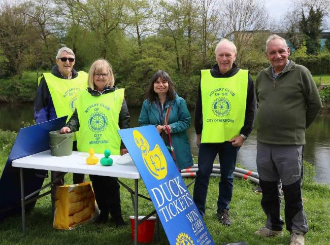 There was plenty of support for the duck race on the day from club members and people from the city and county