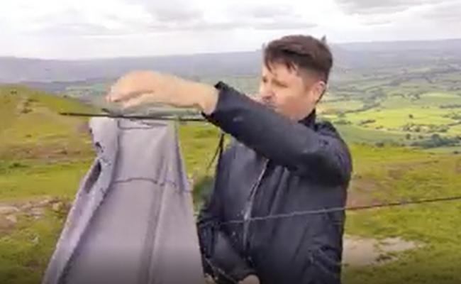Stephen's brolly comes a cropper on the Skirrid