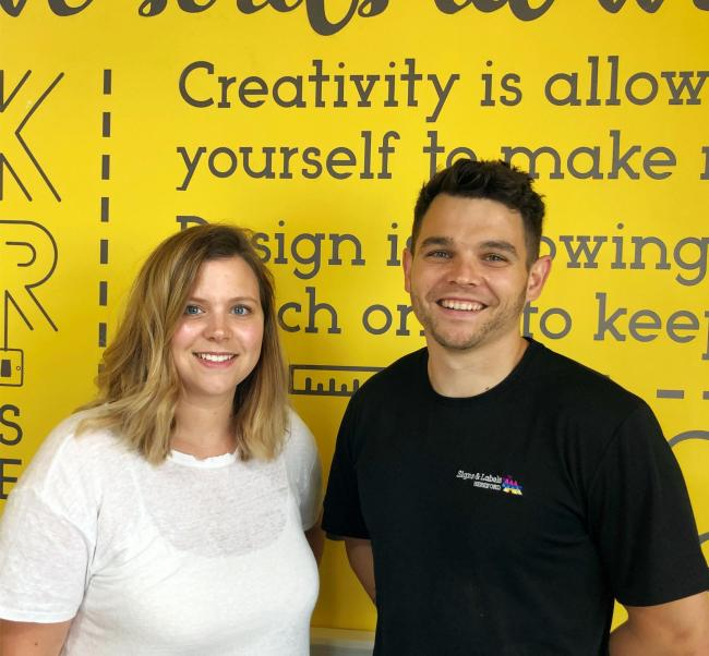 Laura and Ross Hughes of Signs and Labels of Hereford
