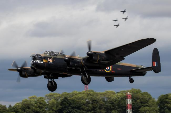 A flypast from an iconic Lancaster Bomber at Shobdon Food and Flying Festival was cancelled because of a technical issue. Photo: Paul Johnson.