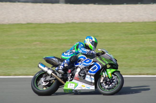 Luke Hedger in action at Donington Park. Picture: Tim Davies