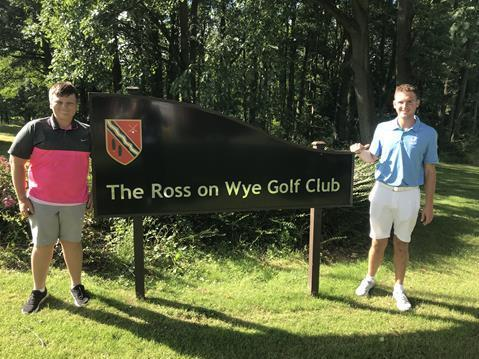 Matty Dobbs (left) and Niall Powell who recently won titles at Ross Golf Club
