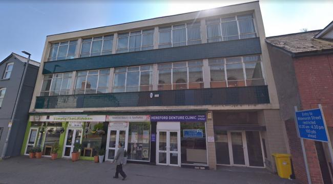 Plans have been submitted to turn a redundant commercial building into apartments in Hereford. Photo: Google.