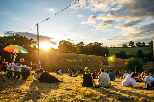 The sun going down on Nozstock 2018. Picture by Chloe Knott