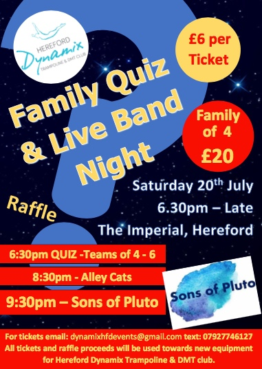 Family Quiz & Live Band Night