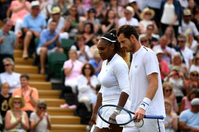 Andy Murray and Serena Williams lost in the mixed doubles