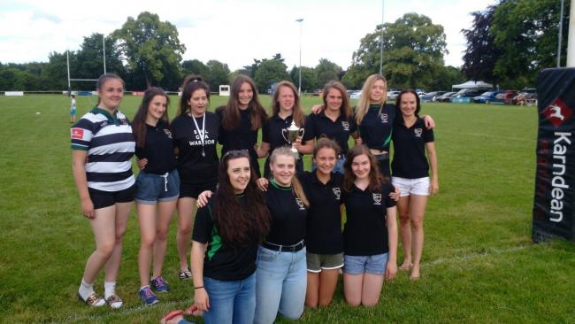 The winning Ledbury Ladies Touch Rugby side