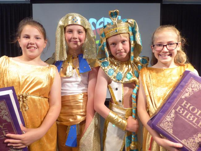 Willow, Charlie, Yoshi and Olivia as the narrators, Joseph and the Pharaoh