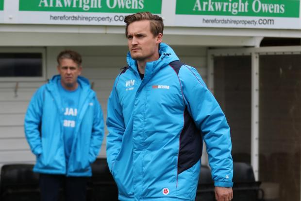 Hereford assistant coach Will Morford. Picture: Steve Niblett/Hereford FC