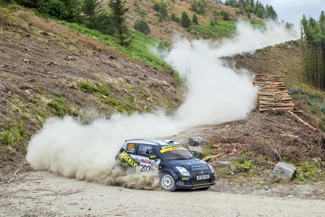 Dan Evans in action at the Nicky Gist Stages. Picture: British Rally Media
