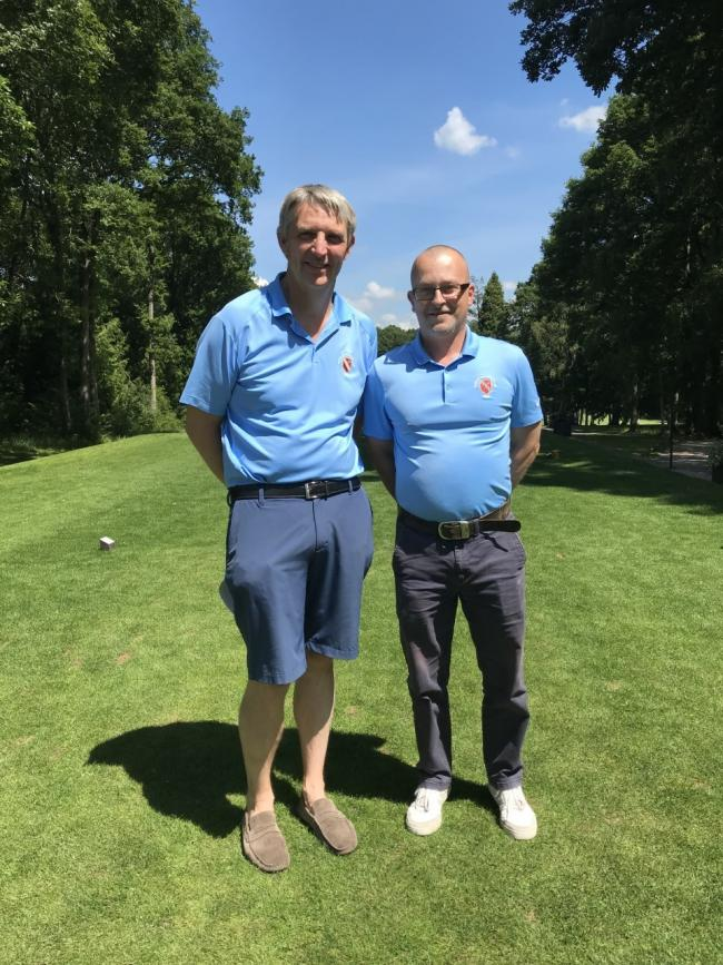 Ross A Team Captain Stephen Price (left) and Vice Captain Simon Mills