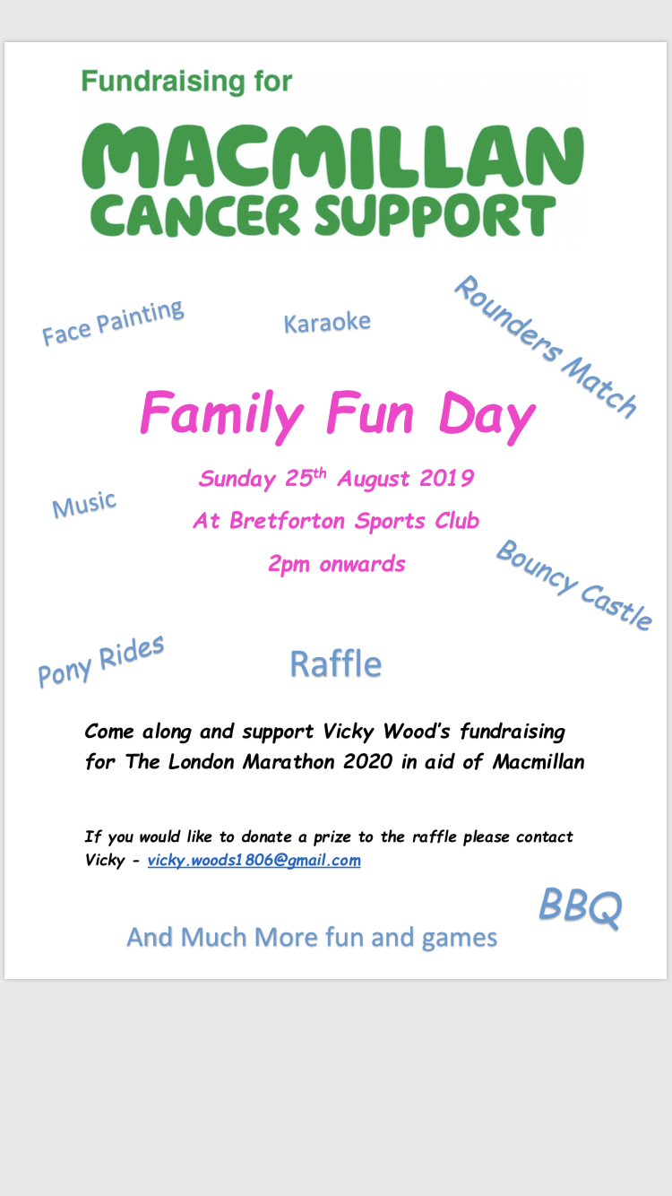 Family Fun day for Macmillan