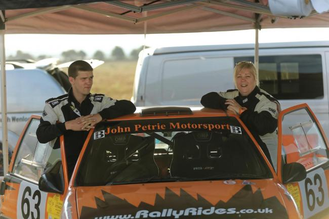 Rally driver Dan Petrie with his mother Michelle. Picture: Kevin Money