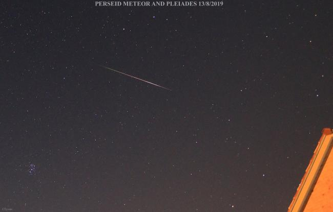 Meteors could be seen in the skies above Herefordshire on Tuesday morning. Photo: Chris Lyons / Hereford Times Camera Club