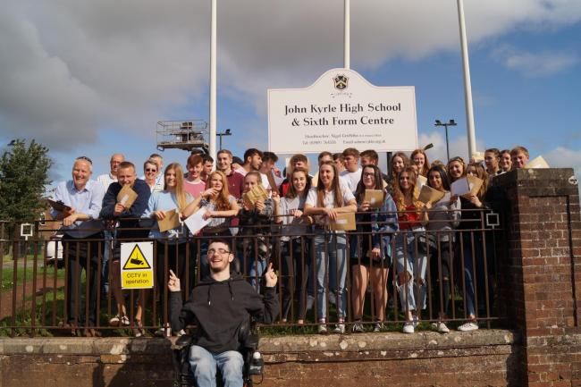 Students at John Kyrle in Ross-on-Wye managed a 99.5 per cent pass rate in A-level results