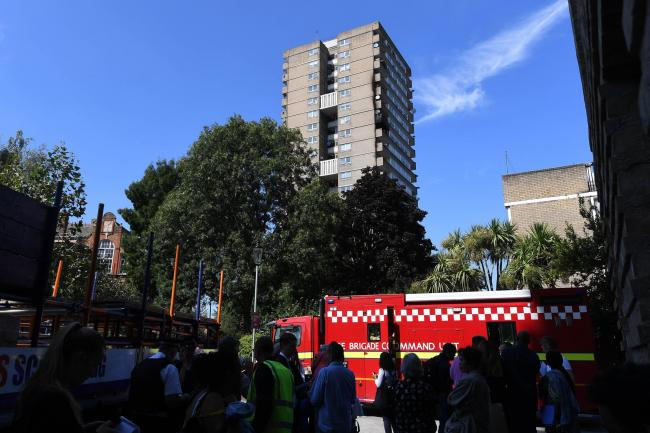 Firefighters tackled a blaze at a flat in Markland House in west London, nor far from Grenfell Tower (Victoria Jones/PA)