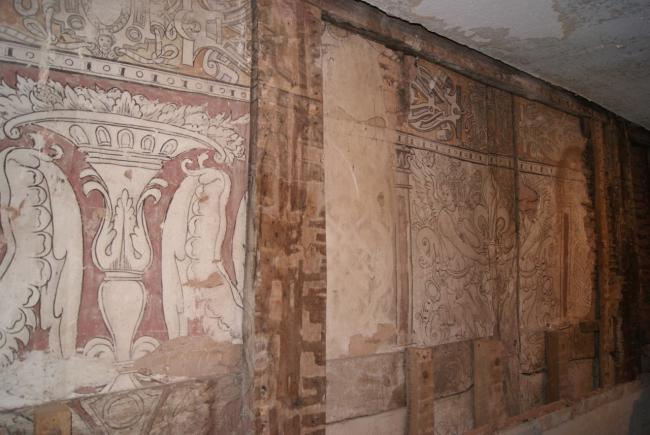 Some of the Elizabethan wall paintings at Church House Farm