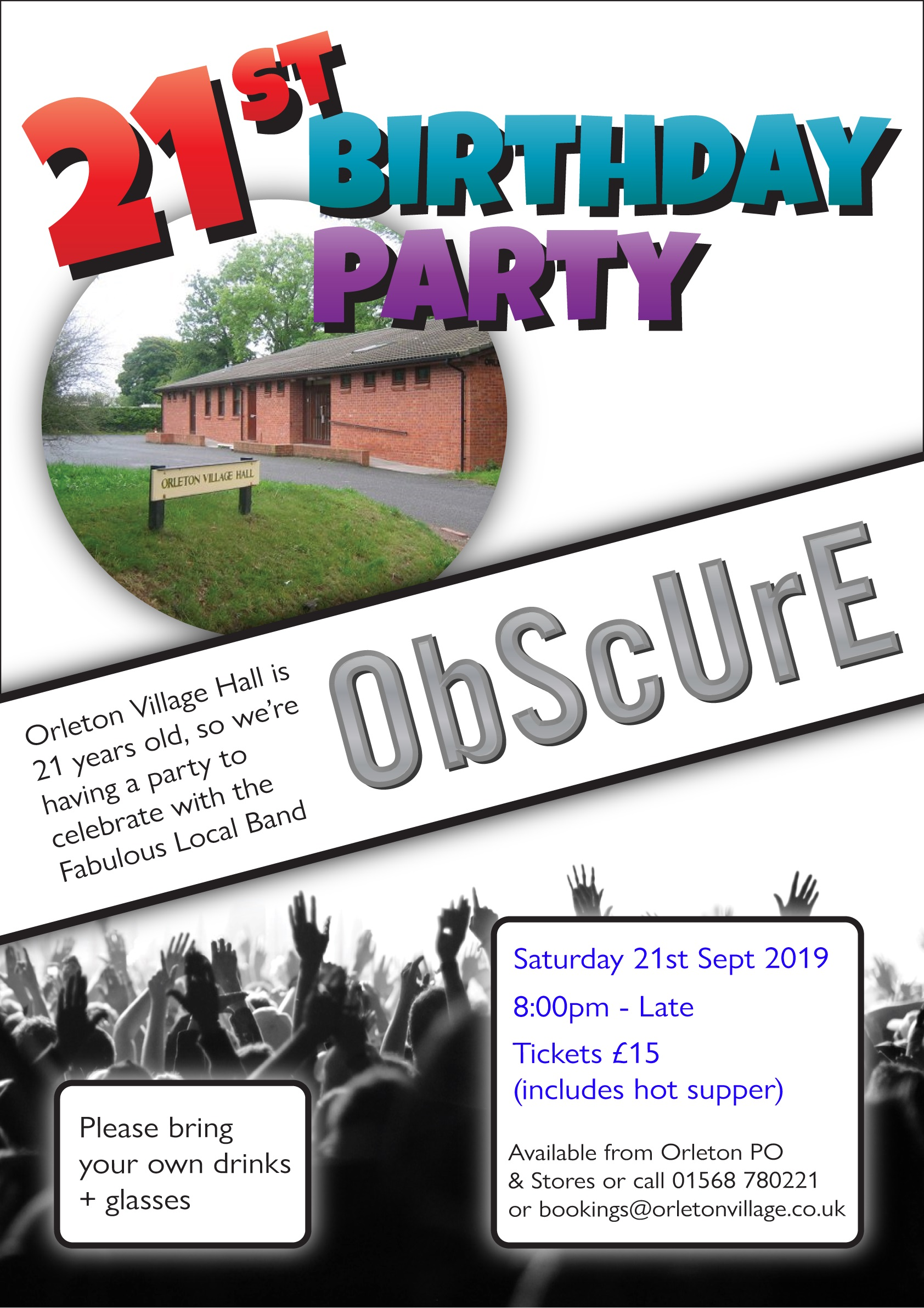 Orleton Village Hall's 21st Birthday Party
