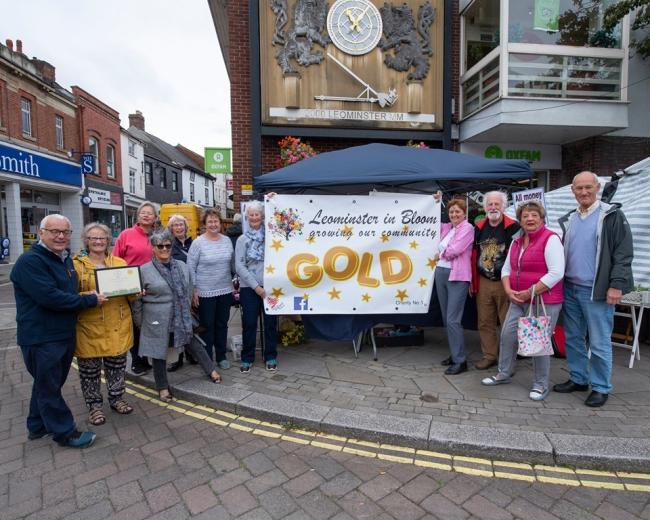 Leominster in Bloom clinches gold award again