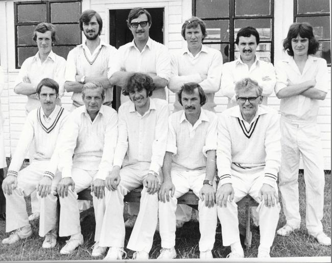 The Wormelow side which won Division Four of the Hereford and District Cricket League in 1979; back row (from left): Mark Wadelin, Martin Bowe, Clive Wadelin, Mike Stayte, Phil Chalkley, John Colcombe; front: Dave Edmunds, Denis Pepper, Richard Prime (cap