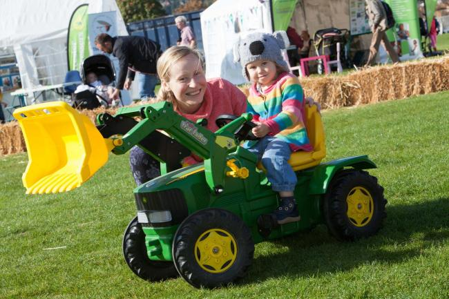 Pedal tractors will be among the attractions for youngsters at Malvern Autumn Show 2019