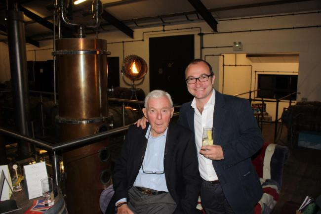 Robin Knipe with Andrew Carter of Chase Distillery