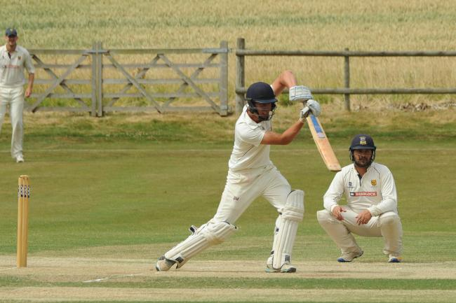 Herefordshire County Cricket Club v Shropshire CCC - Barney Morgan on his way to a century for Herefordshire..