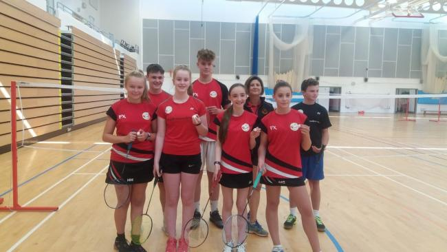 Herefordshire Badminton Academy members who are showing their talents at county level