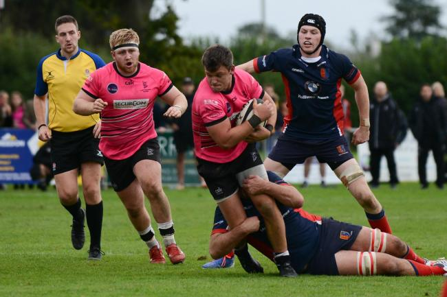Rob Lewis took Luctonians' opening try at Stourbridge.