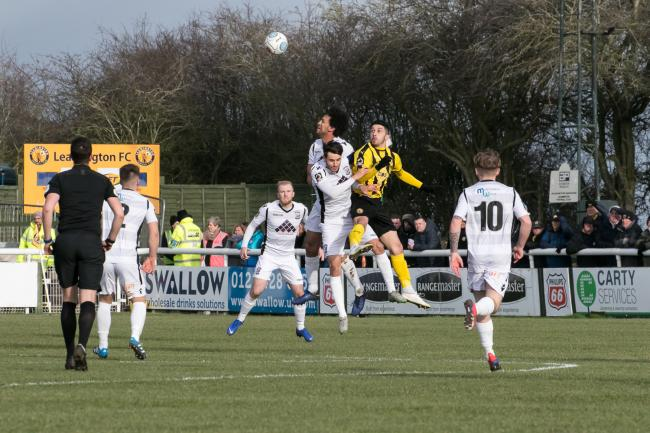 Last season's match between Hereford and Leamington. Picture: Andy Walkden