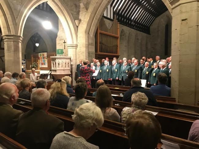 St Mary's Church, Kington was filled with the unmistakable sound of the Llandovery Male Voice Choir