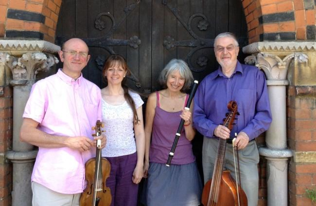 Box & Fir will perform at St Mary's Church Craswall. Pictured from left, are, Michael Sanderson, Katharine May, Jenny Thomas and Ian Gammie.