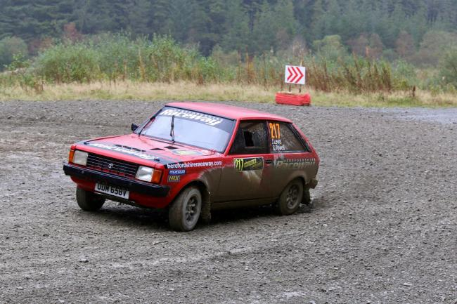 Chris Powell competing in the Wales Rally GB National event. Picture: Paul Willetts