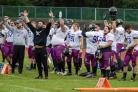 Hereford Stampede celebrate during their win at Scunthorpe Alphas. Pictures: Cliff Williams