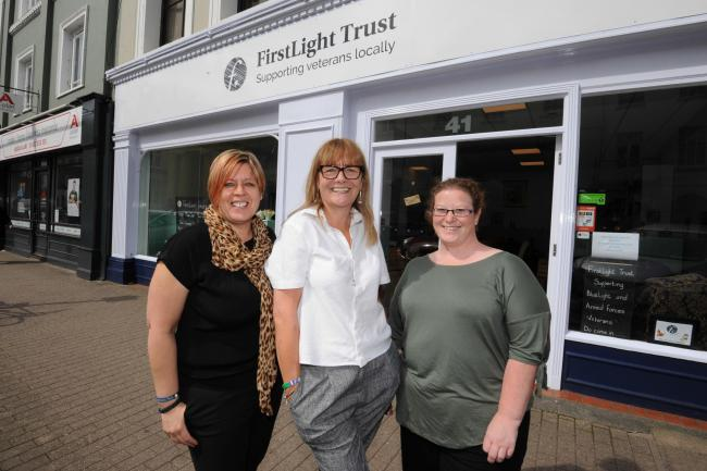 FirstLight Trust hub support Co-ordinator Lynne Gladwin (left) is organising a walk to raise money for the charity that helps veterans.