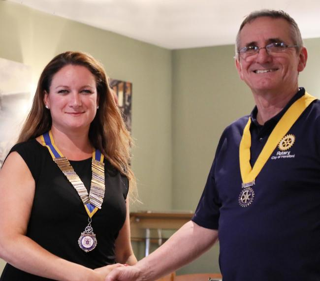 Katie Farmer will be the new president of the City of Hereford Rotary Club with Nick Tecza her senior vice president. Photo: Derek Foxton.