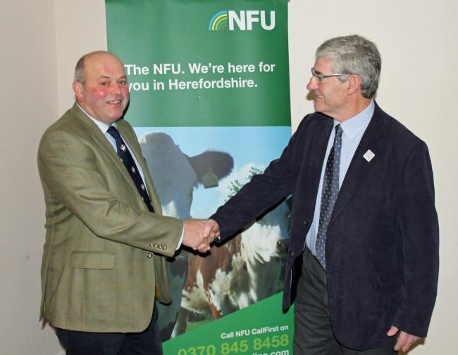 David Watts. left, is the National Farmers Union chairman for Herefordshire, and said people in the industry will embrace changes.