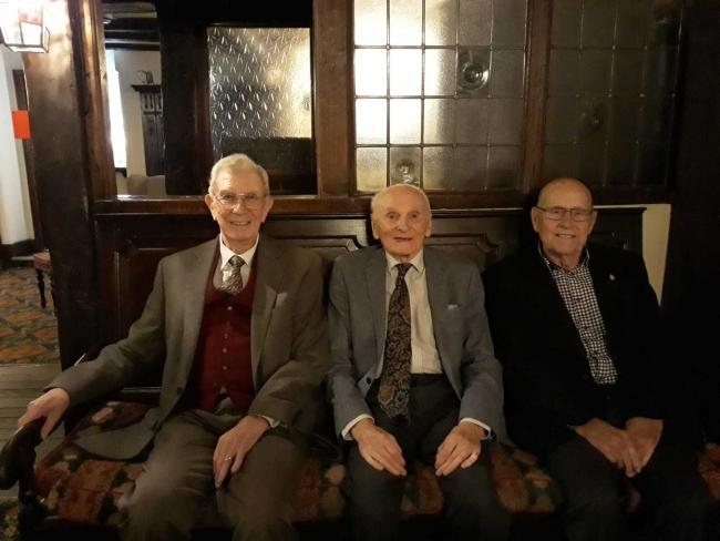 So what have you been up to these last 74 years? Old Boys Ron Mewies, Fred Law and Ken Watkins have been reunited