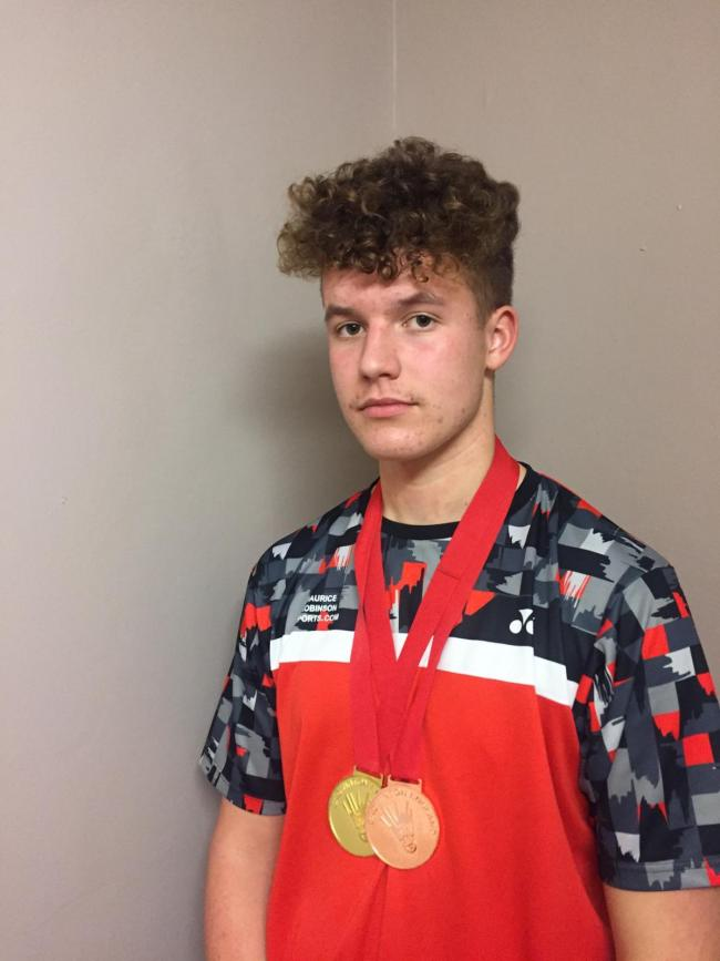 Joe Howells who won gold at the National Badminton England U17 Gold tournament