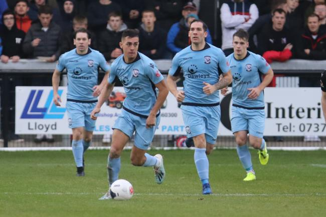 Taylor Allen on his debut for Hereford FC. Picture: Steve Niblett/Hereford FC