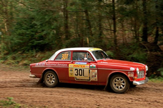 Ken Davis who will be competing in his Volvo Amazon at this year's Wyedean Stages Rally