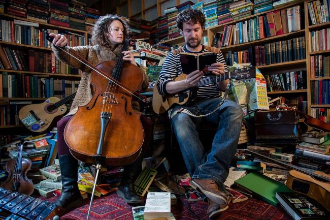 The Bookshop Band, renowned for its literary inspired songs, is heading to the USA following an invitation from American book sellers..Based in Scotland's National Book Town of Wigtown, the band regularly performs with well known authors and creates s