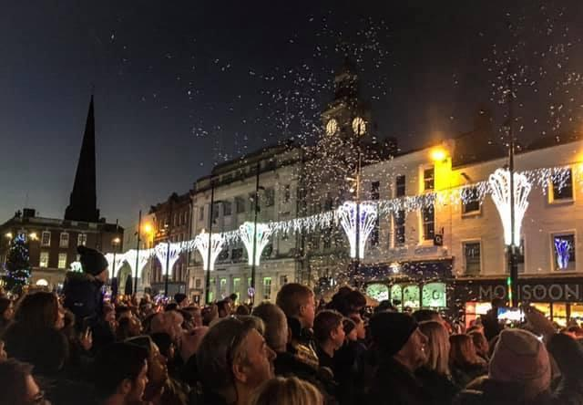The 2018 Christmas lights switch-on in High Town, Hereford. Picture: Andy Chadd