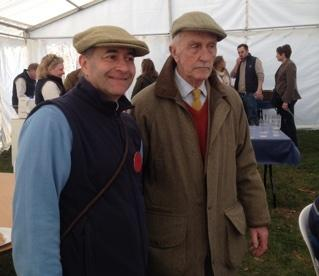 Arthur Bellamy (right) at the Ross Harriers point-to-point this year, with Assistant Starter, Martin Roberts
