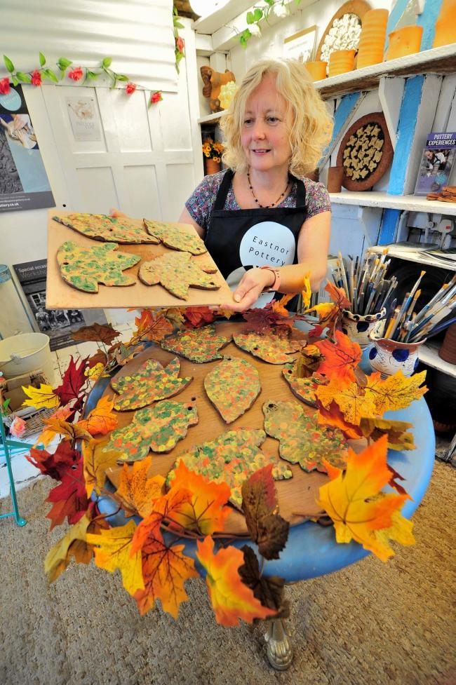 EASTNOR POTTERY: During recent 'Leaf Peeping Workshops' but now the focus will be on Christmas trees