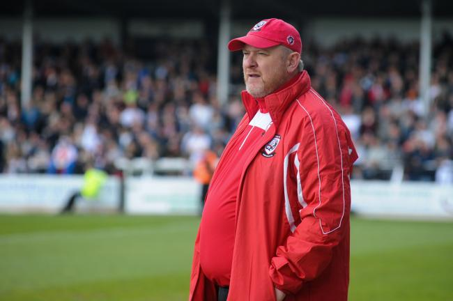 Hereford FC v Heanor Town FC - Manager Peter Beadle..